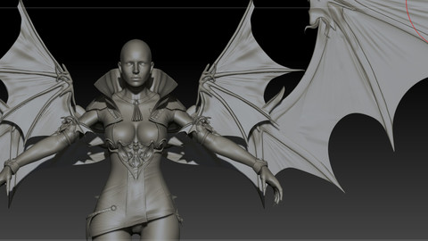 Vampire girl remastered High poly zbrush project