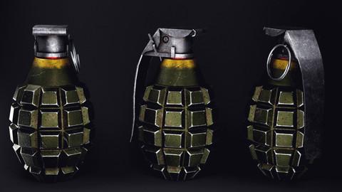 Explosive Grenade {PBR}