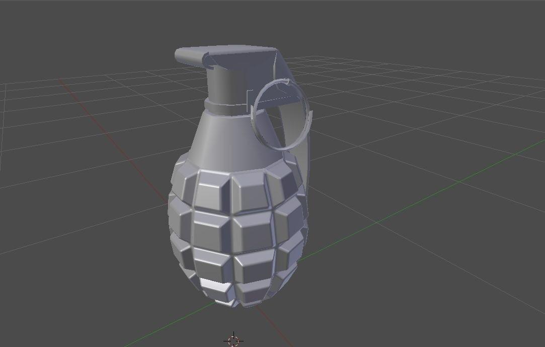 Mk2 explosive grenade pbr optimized 3d model low poly rigged obj fbx dae%20%281%29