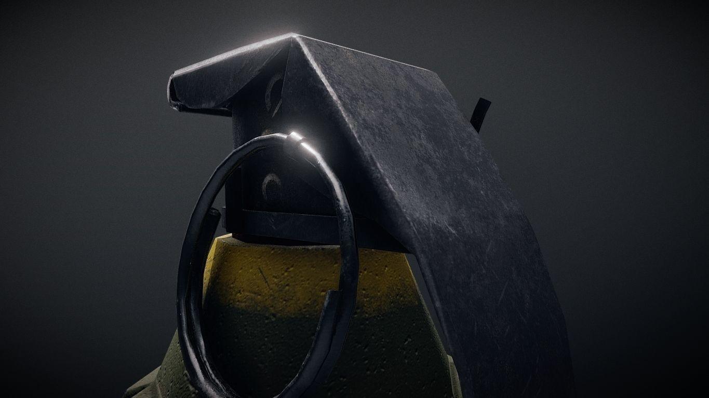Mk2 explosive grenade pbr optimized 3d model low poly rigged obj fbx dae