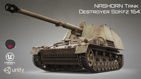 NASHORN Tank Destroyer SdKfz 164