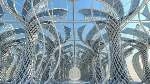 3D Futuristic Architectural Interior