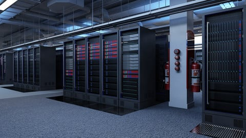 Data Communication Server Room