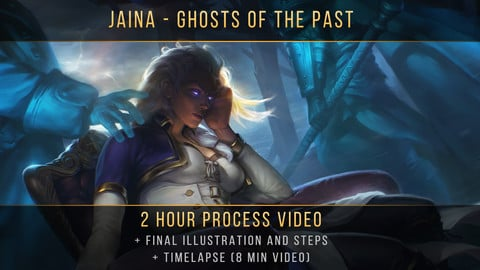 Jaina Illustration 2 hour Timelapse