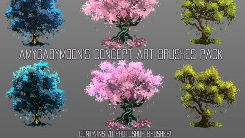 70 Concept Art Brushes Pack