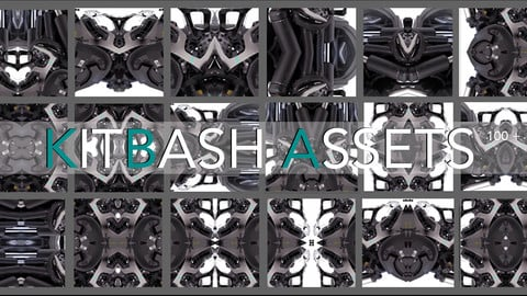 2d Kit Bash Photo Pack. Mechanical Series 02