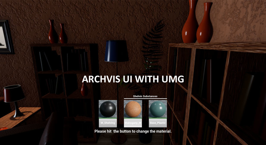 ArchVis UI with UMG for Unreal Engine 4 21 by 3D Virtualand