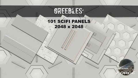 101 Greebles Scifi Panel Textures