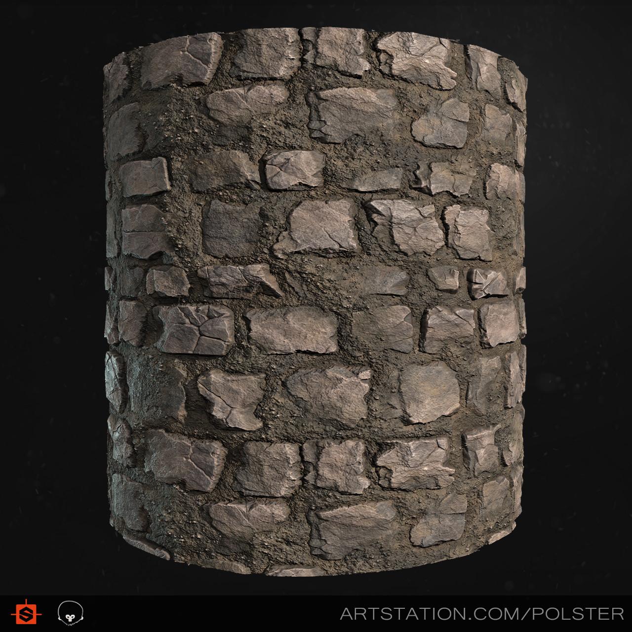 Rough cobblestone cyl c