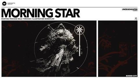 Morning Star - Painting Process walk through / illustration workflow