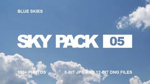 Sky Pack 05 / Blue Skies / Clouds reference pack