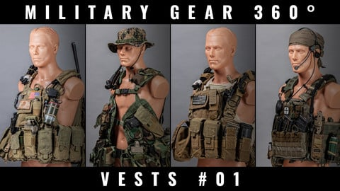 Military Gear 360° photo references - Soldier Vests #01