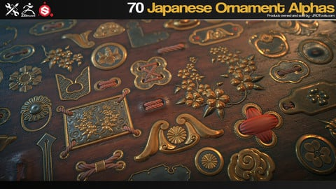 ZBrush/SP - 70 Japanese Ornament Alphas