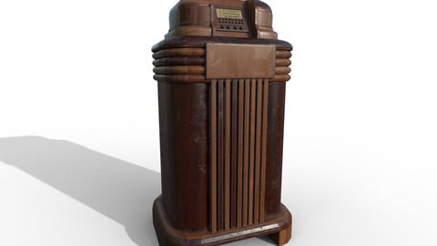 Old Radio from the 40s high poly and low poly 3D model