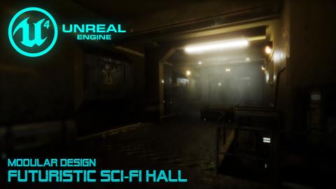Futuristic Sci-Fi Hall