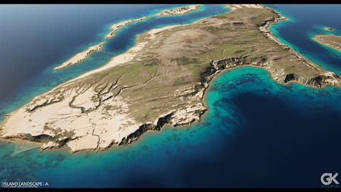 Island Landscape - A