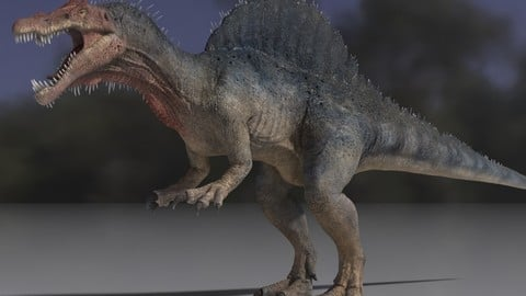 Spinosaurus dinosaur Maya rig