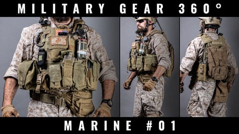 Military Gear 360° - Marine Soldier 01 photo references