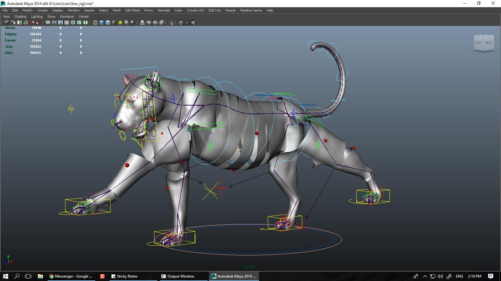 Truong CG Artist - Lion Maya Rig