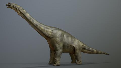 Brachiosaurus Dinosaur Maya Rig