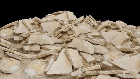 Pile of Road Rocks