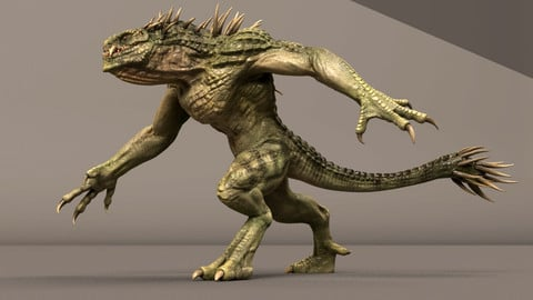 Dino Beast Maya Rig