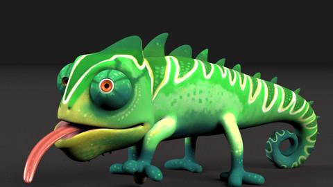 Chameleon Cartoony Rig