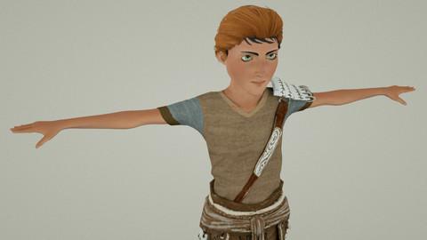 Medieval Boy 01 Rigged