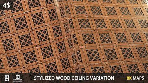 STYLIZED WOOD CEILING VARIATION MATERIAL - substance designer