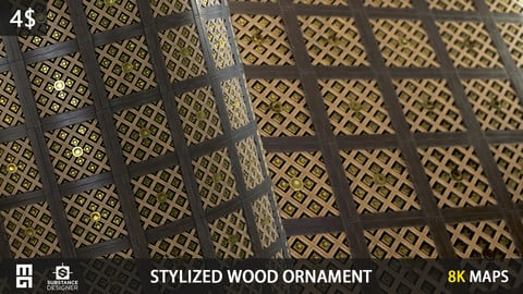 STYLIZED WOOD ORNAMENT MATERIAL - substance designer