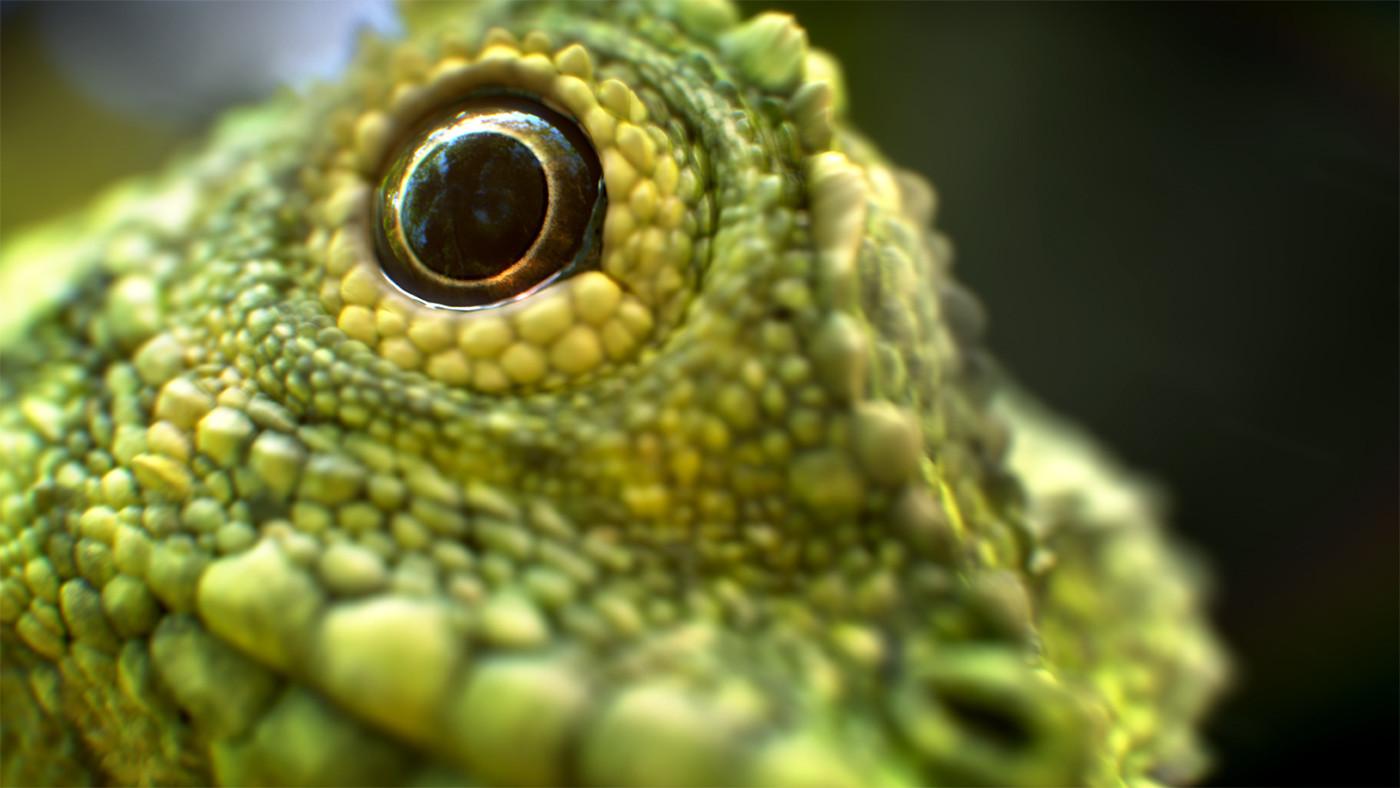 Marlon R  Nunez - Charater Artist - Zbrush - Lizard scales