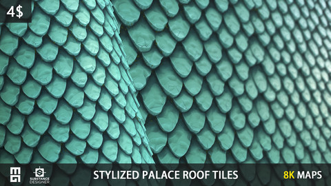 STYLIZED PALACE ROOF TILES MATERIAL- substance designer