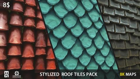 STYLIZED ROOF PACK - substance designer