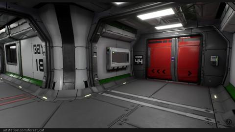 UE4 Modular Sci Fi Corridor B