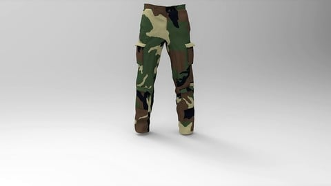Military Pants Forest Camuflage