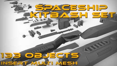 SpaceShip KitBash Set