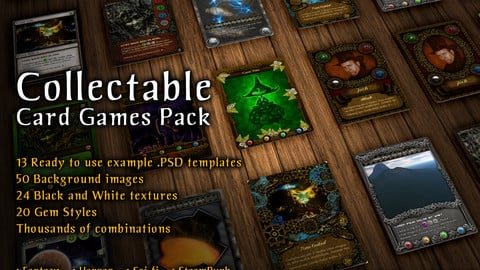 20 Collectable Card Game Templates