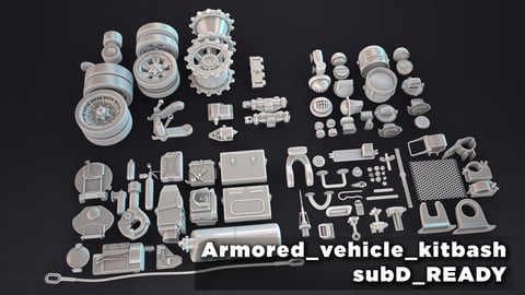 HQ_Armored_vehicle_kitbash_subD_ready