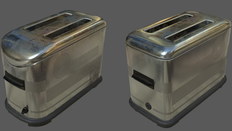 Vintage Toaster - Textured 3D Low Poly Model