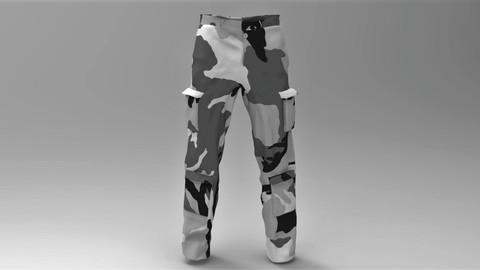 Military Pants Snow Camuflage