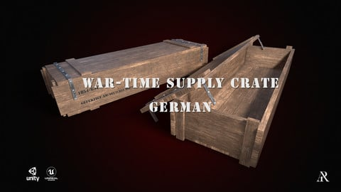 War-Time Wooden Supply Crate (German)