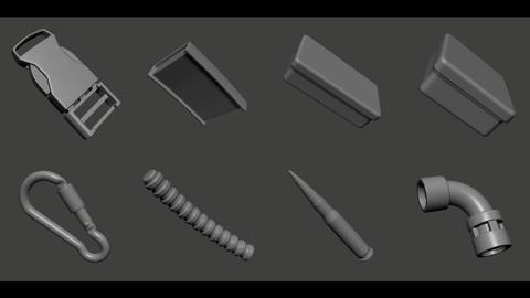 3D Kitbash Post-Apo (50)