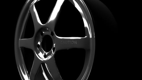 Low-poly car rims - Volk inspired, different looks
