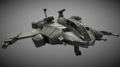 Sci-fi Heavy Assault Fighter