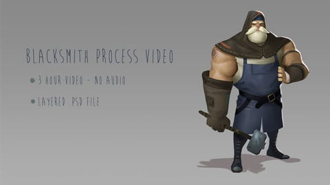 Blacksmith Character Concept Process Video