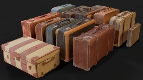 12 Vintage Suitcase Collection