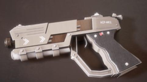 Sci-fi Futuristic Combat Pistol