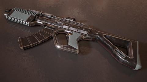Sci-fi Futuristic Assault Rifle