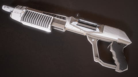 Sci-fi Futuristic Combat Shotgun