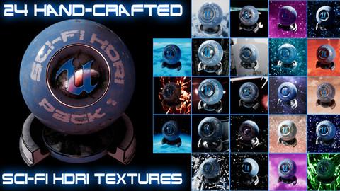 24 Sci-fi HDRI Texture Pack
